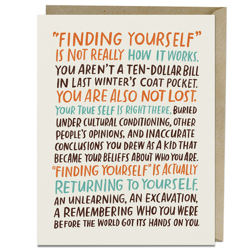 Emily McDowell Finding Yourself Card