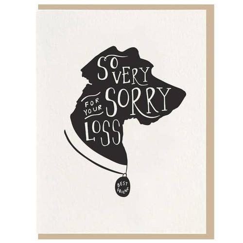 Pet dog sympathy card.