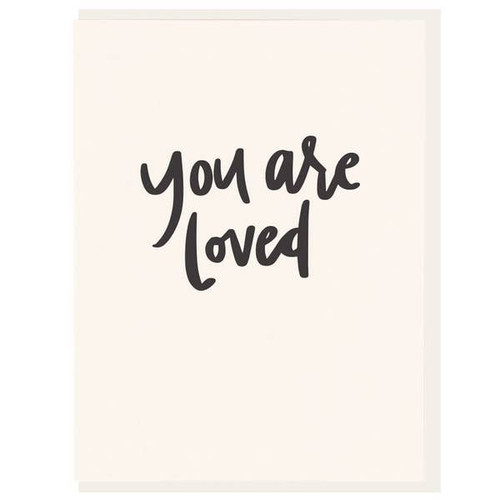 You are loved encouragement card by Dahlia Press.