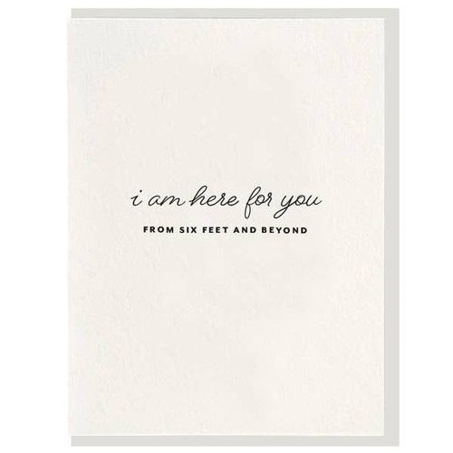 Here for you social distancing card by Dahlia Press