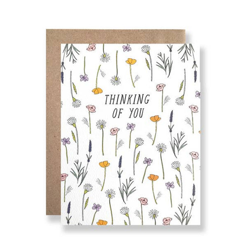 Thinking of you wildflowers card by Hartland Brooklyn