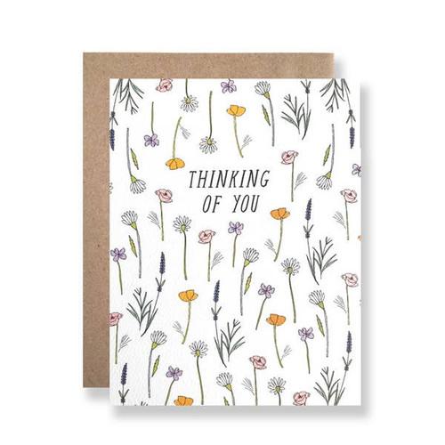 Thinking of you wildflowers card by Hartland Brooklyn