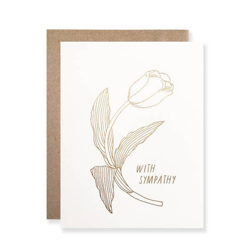 Gold Foil With Sympathy Tulip by Hartland Brooklyn