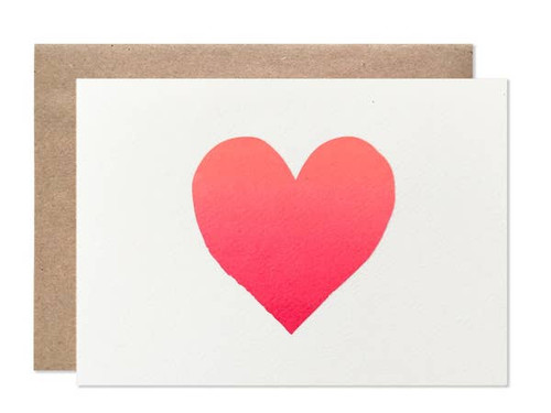Ombre Heart Card by Hartland Brooklyn