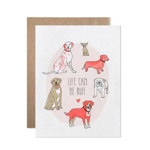 Life Can be Ruff Card by Hartland Brooklyn