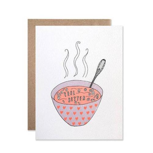 Feel Better Soup Card by Hartland Brooklyn