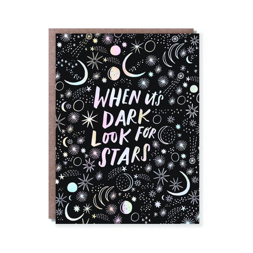 When it's dark look for stars card by Hello!Lucky