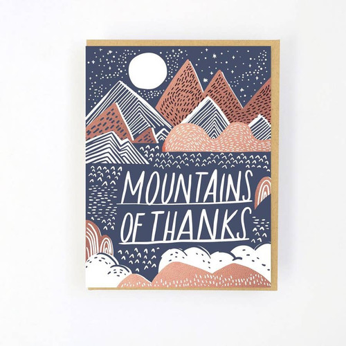 Mountains of thanks card by Hello!Lucky