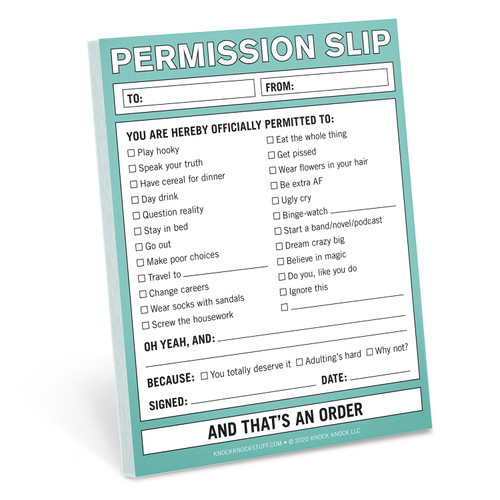 Permission Slip Nifty Note by Knock Knock