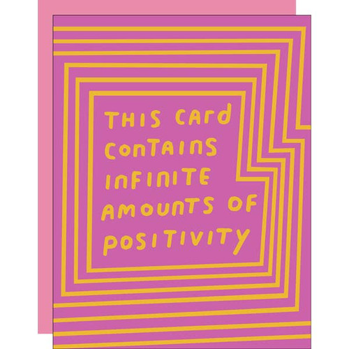 Infinite Positivity Card by Ashkahn
