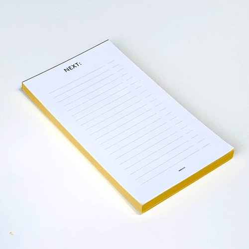 Gold foil edged next notepad by Wms. & Co.