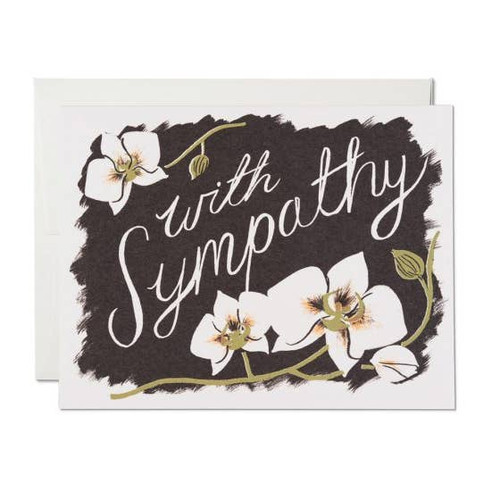 Sympathy orchids card by Red Cap Cards