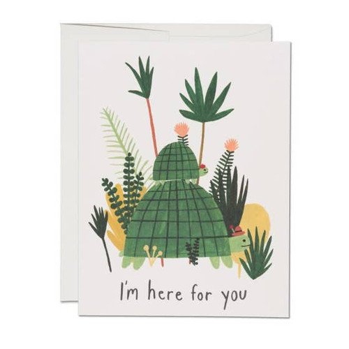 I'm Here for You Turtles Card by Red Cap Cards