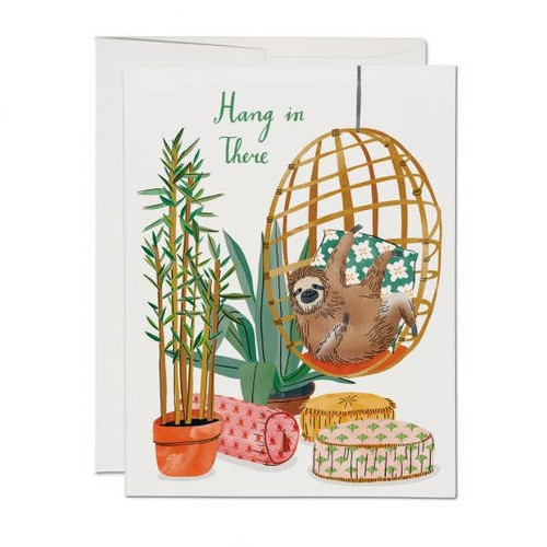 Hang in There Sloth Card by Red Cap Cards