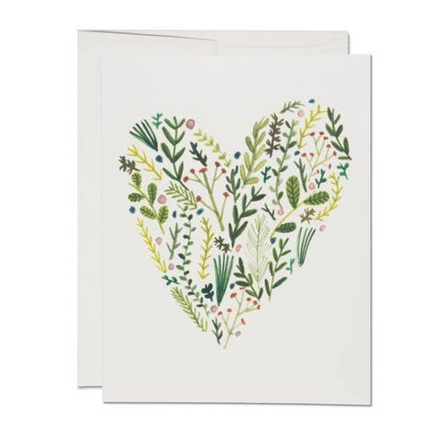 Floral heart card by Red Cap Cards