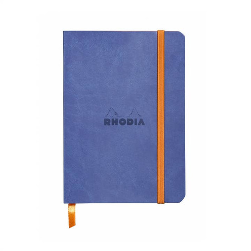 "Rhodia Lined Softcover Notebook (4""  x  5.5"") Sapphire"