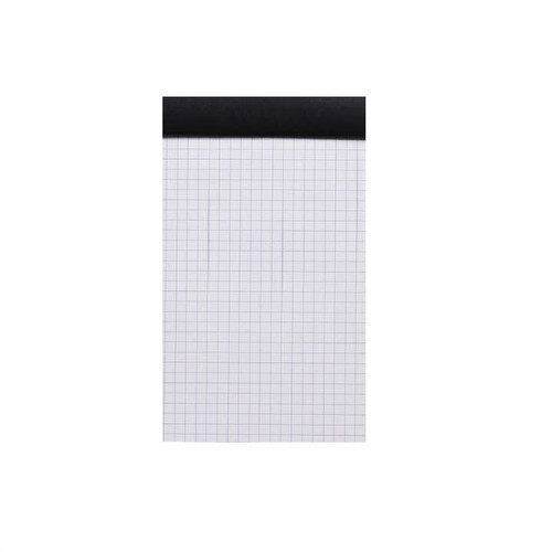"Rhodia N°16 Staple Bound Black Graph Notepad (6"" x 8.25"")"