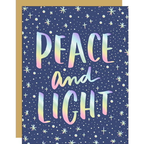 Peace and light greeting card by Hello!Lucky
