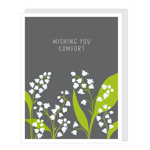 Lily of the Valley Sympathy Card by Apartment 2 Cards
