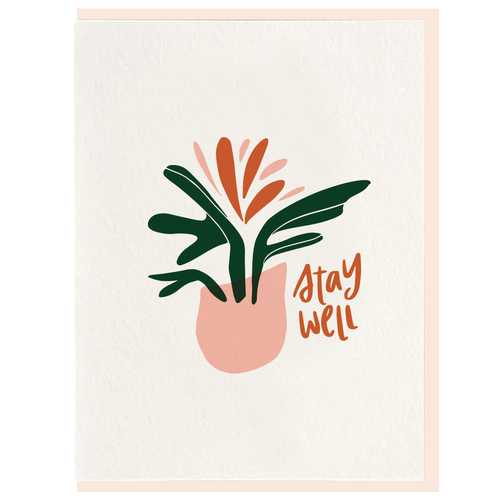 Stay Well Letterpress Card by Dahlia Press