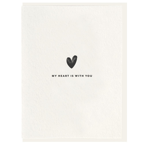 My Heart is With You Letterpress Card by Dahlia Press