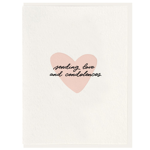 Sending Love and Condolences Card by Dahlia Press