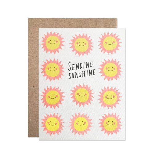Sending Sunshine Letterpress Card by Hartland Brooklyn