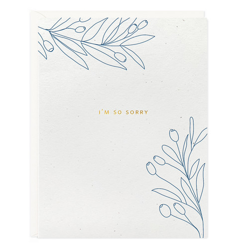 So Sorry Botanical Sympathy Card by Ramona & Ruth