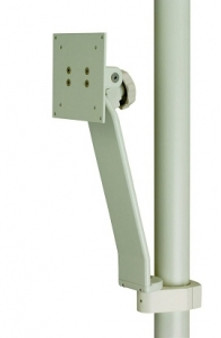 Flat Panel Monitor Only Support, Vertical Post Mounted - White
