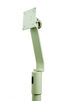 Flat Panel Monitor Only Support - Top Post Mounted (White)
