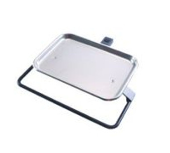 Mounted Tray - for use with Current DCI Flex Arms (White 16'' Holder Bar)
