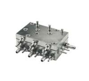 P&C / Marus Automatic Handpiece Block Single-Piece Assy., Tri-Block, Dimensions 2 3/8'' x 1 1/2'' x 1'' (P&C #13203)