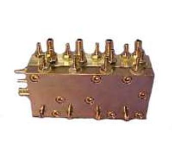 P&C / Marus Automatic Handpiece Block Single-Piece Assy., Quad-Block, Dimensions 3 1/8'' x 1 1/2'' x 1'' (P&C #050677)