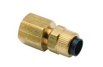 3/8'' Poly x 1/4'' FPT Straight Connector (A-dec #022.023.00)