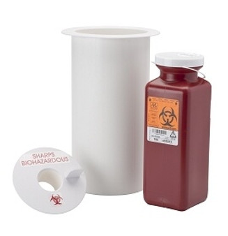 Counter Mount Sharps Container
