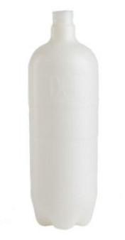 1-Liter Plastic Bottle w/ Cap & Pick-Up Tube for Dental Unit Water Systems