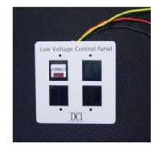 Low Voltage Control Panel - Single Switch Panel, Expandable to 4