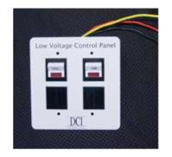 Low Voltage Control Panel - Dual Switch Panel, Expandable to 4