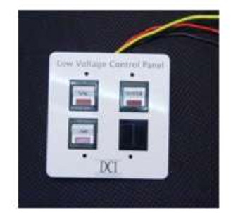 Low Voltage Control Panel - Triple Switch Panel, Expandable to 4