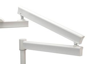 Post Mount Flexible Arm - 50'' Horizontal Reach (White)