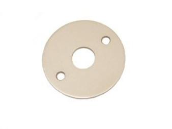1 3/8'' I.D. Floor Flange, Aluminum - For 1'' Vac Tubing, 3'' O.D.