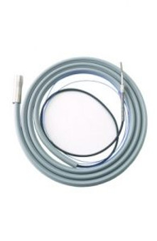 Gray - 7' Tubing / 14' Bundle - Straight Asepsis Tubing w/ Ground Wire for Touch System