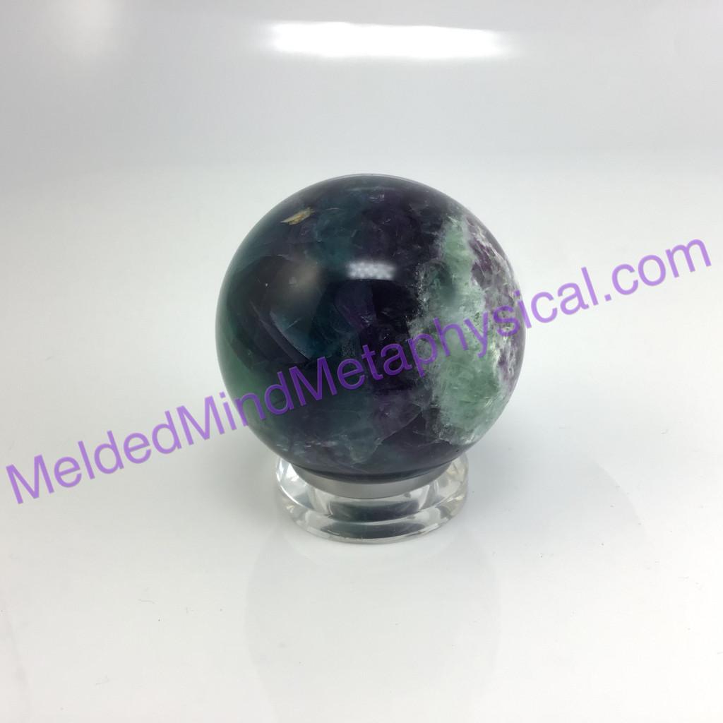 MeldedMind036 Natural Green Blue Purple Fluorite Sphere 73mm Crystal Energy Healing