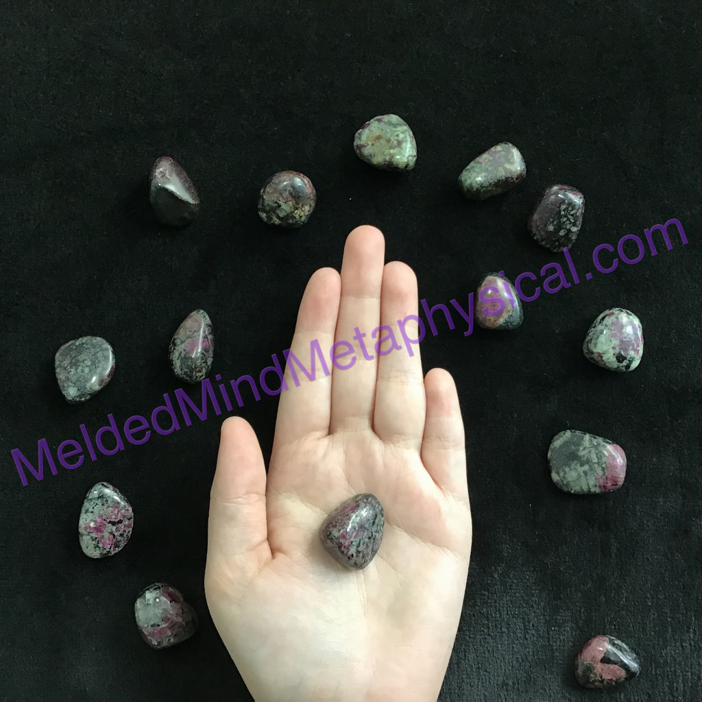MeldedMind204 One (1) Small Russia Eudialyte Tumble Energy Metaphysical