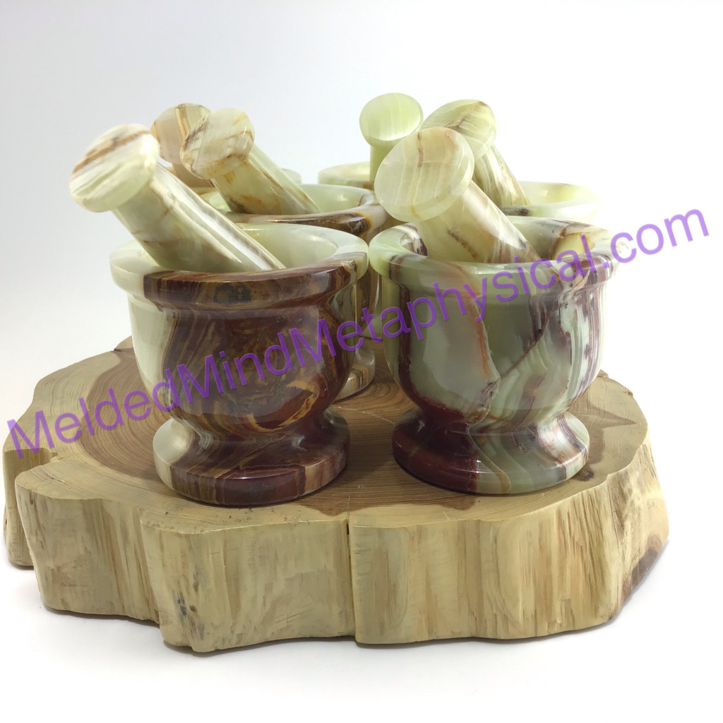 MeldedMind Onyx 2.5in Mortar&Pestle Great for Herb Grinding and Crushing 217