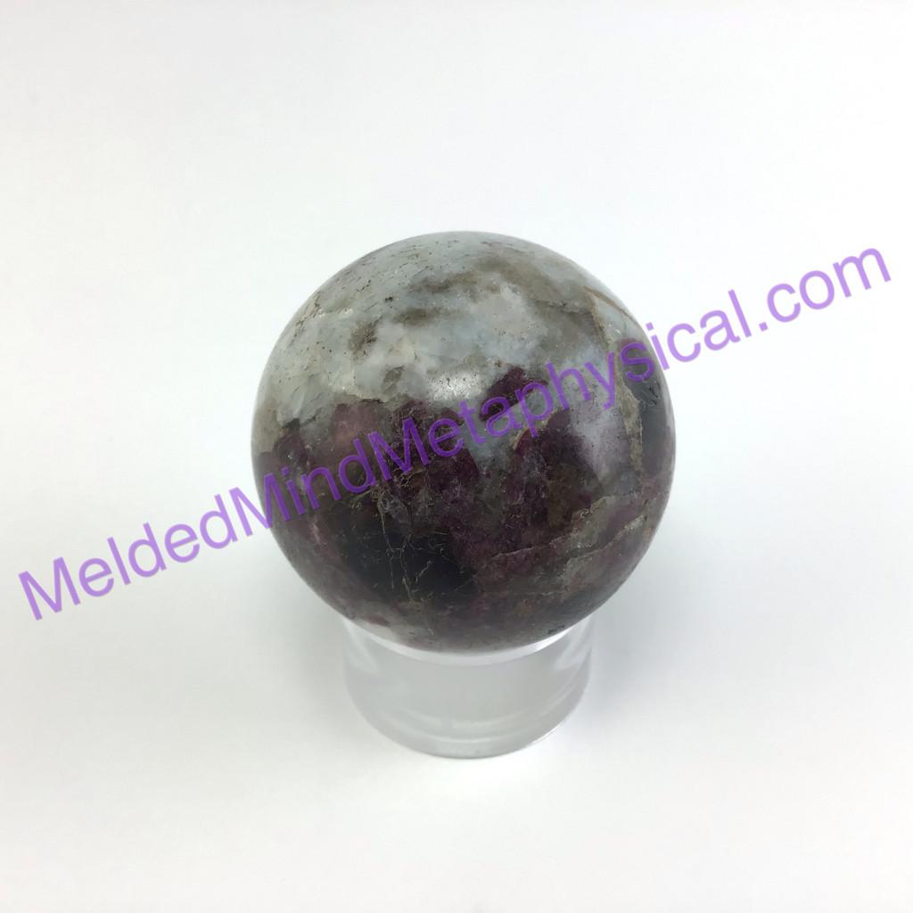 MeldedMind Polished Pink Tourmaline Sphere 1.79in 45mm Rubellite 296