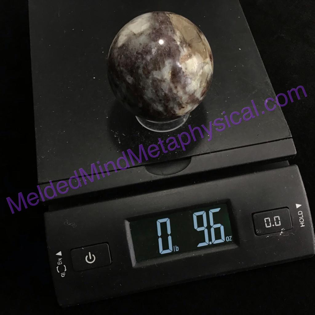 MeldedMind Polished Pink Tourmaline Sphere 2.27in 57mm Rubellite 297