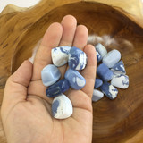 One (1) Tumbled Blue Opal Healing Crystal Metaphysical Mineral