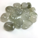 One (1) Tumbled Chlorite Included Quartz Healing Crystal Metaphysical Mineral