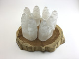 One (1)  4.5 inch All Natural Double Selenite Tower Crystal Healing